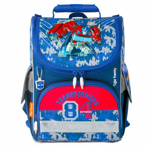 "Ранец TIGER FAMILY для начальной школы, Nature Quest, ""Optimus Prime"", ЛИЦЕНЗИЯ, 35х31х19 см, 228971, TGNQ-040A"