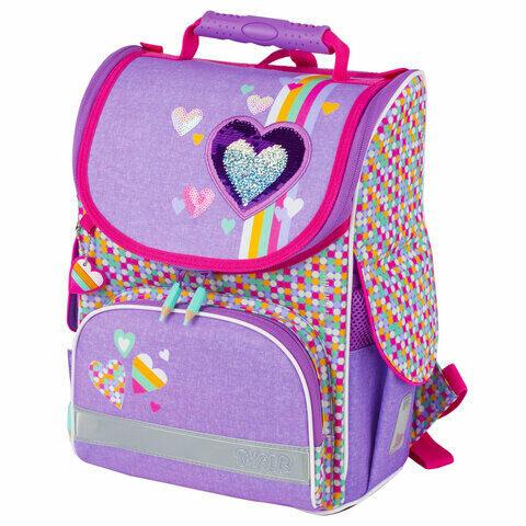 "Ранец TIGER FAMILY, для начальной школы, Nature Quest, девочка, ""Pink Amour"", 35х31х19 см, 227865, TGNQ-041A"