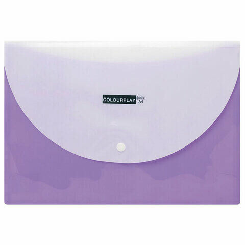 """Папка-конверт с кнопкой INDEX """"COLOURPLAY"""", А4, 180 мкм, до 100 листов, 2 отделения, IPF320"""
