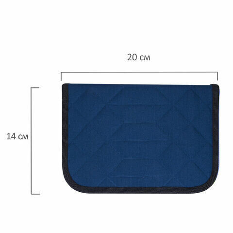 """Пенал TIGER FAMILY 1 отделение, 2 откидные планки, ткань, """"Polar Ice"""", 20х14х4 см, 228943, TGRW-009C1E"""