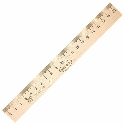 Линейка деревянная, 20 см, C05