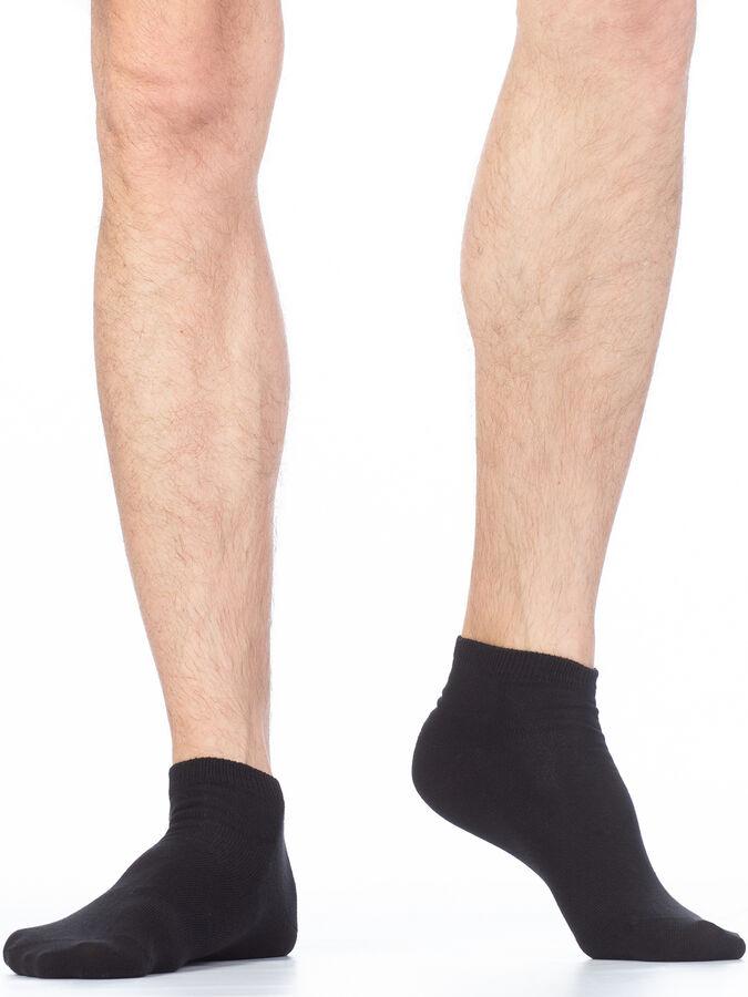 Укороченные гладкие эластичные всесезонные мужские носки