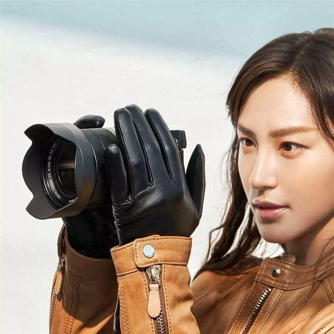 Женские кожаные перчатки Xiaomi Qimian Spanish Lambskin Touch Screen Gloves