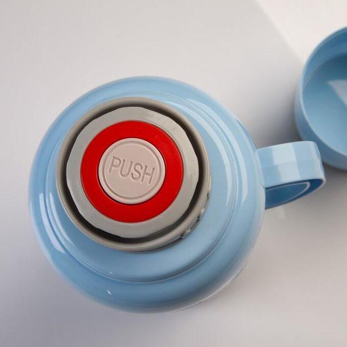 Термос 1.6 л, стеклянная колба, сохраняет тепло 24 ч , микс