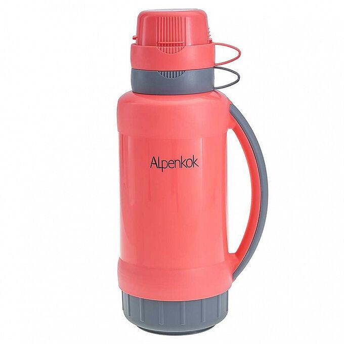 Термос 1,8 л Alpenkok AK-18023S коралловый с серым
