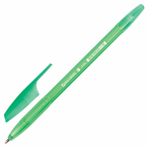 """Ручка шариковая BRAUBERG """"X-333"""" NEON, СИНЯЯ, корпус тонированный ассорти, узел 0,7 мм, линия письма 0,35 мм, 142829"""