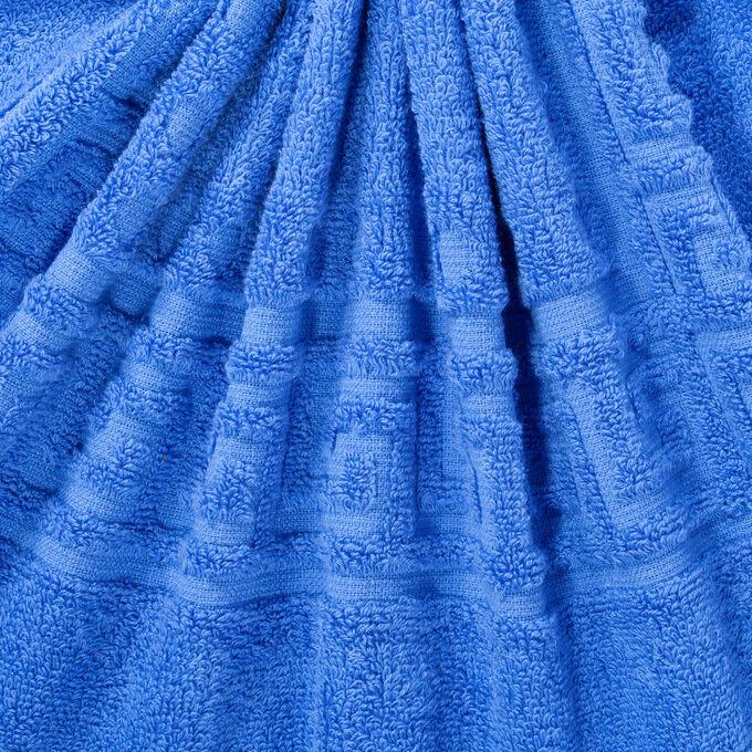 Полотенце махровое Cezar, 430 г/м2, синие 70*130