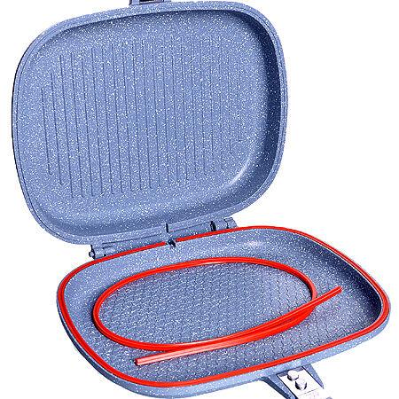 29822 Сковорода-двойная литой алюминий, мрамор, покрытие .1,6 л 28см МВ(х10)