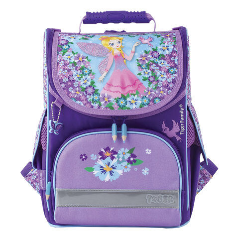 """Ранец TIGER FAMILY, для начальной школы, Nature Quest, девочка, """"Blissful Fairy"""", 35х31х19 см, 227856, TGNQ-044A"""