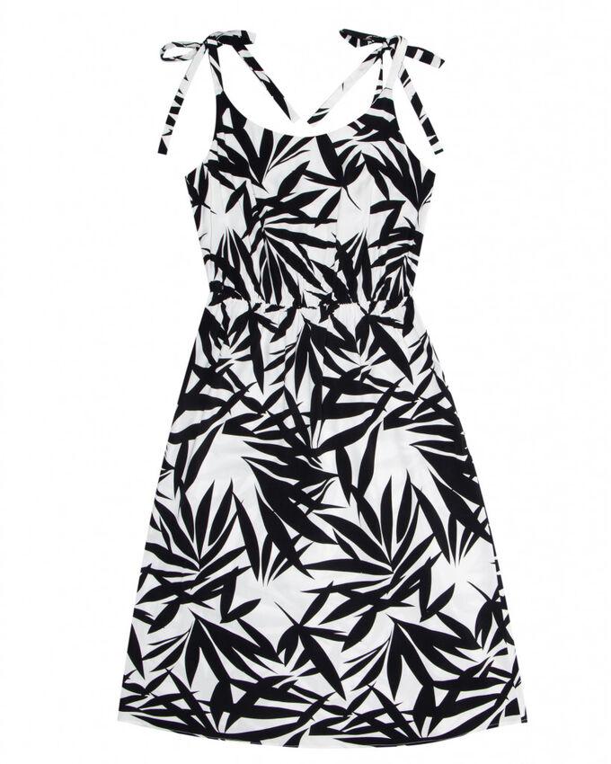 Платье жен. (002122) бело-черный во Владивостоке