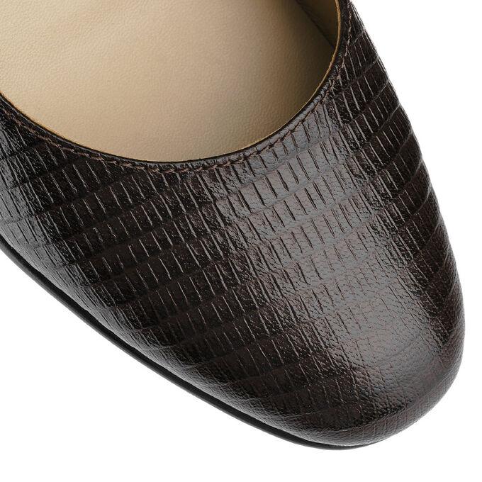 Коричневые туфли из натуральной кожи. Модель 2367 коричневый питон