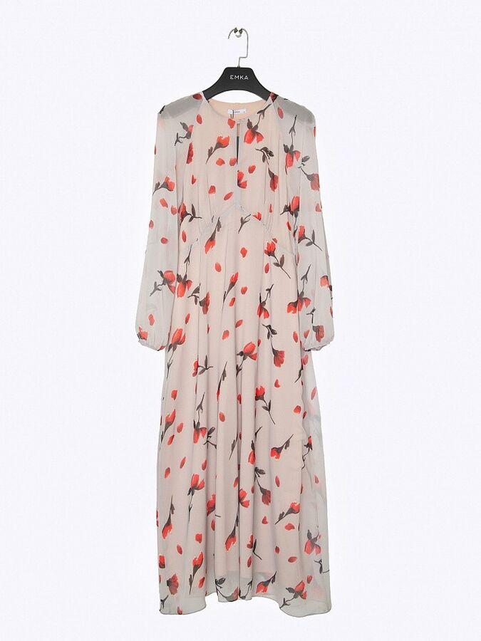 Шифоновое платье с принтом PL1092/venson