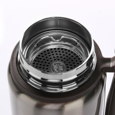 """Термос """"Гамб"""" 900 мл, сохраняет тепло 12 ч, с ситечком, серебристый"""