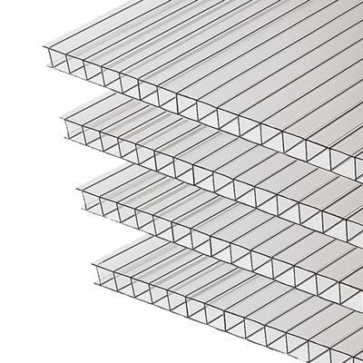Комплект сотового поликарбоната 6 мм, 2,1 ? 6 м, 4 шт., прозрачный, MultiGreen