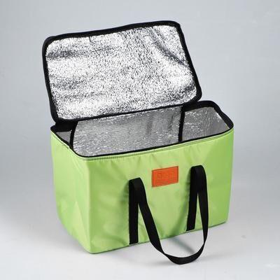 """Термосумка """"ARGO"""", салатовая, 17-18 литров, 35х21х24 см"""