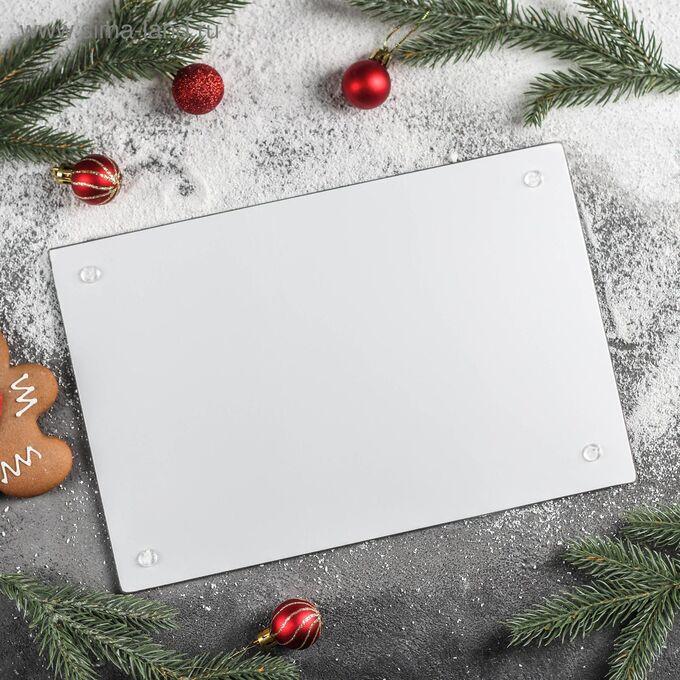Доска разделочная «Новогодняя выпечка», 30?20 см