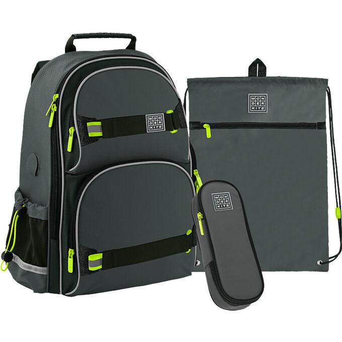 Набор рюкзак + пенал + сумка для обуви WK 702 серый