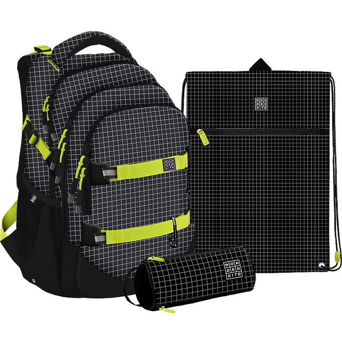 Набор рюкзак + пенал + сумка для обуви WK 727 Checkered