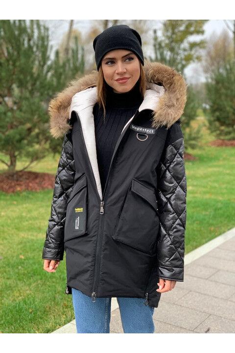 Женская зимняя куртка С16 черная
