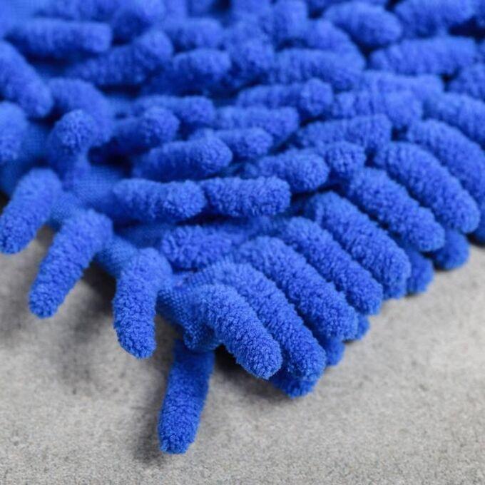 Насадка для плоской швабры ВОТ «Синель», 40?12 см, цвет синий
