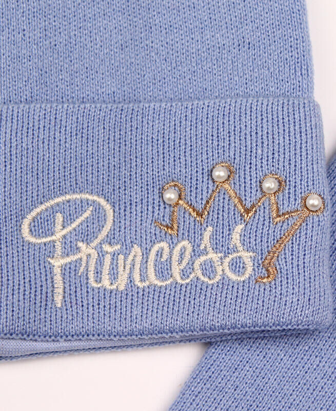 Комплект для девочки (шапка+снуд),голубой Цвет: Голубой