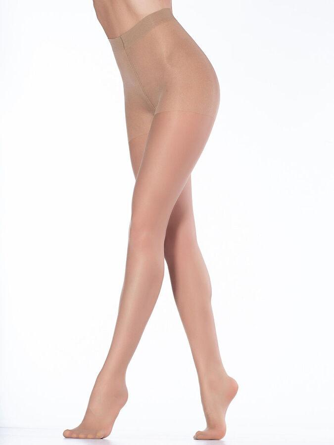 Колготки Прозрачные шелковистые колготки с лайкрой и распределенным по ноге давлением, плотностью 20 ден, с укрепленным мыском, ластовицей и усиленными шортами. 88% полиамид, 12% эластан