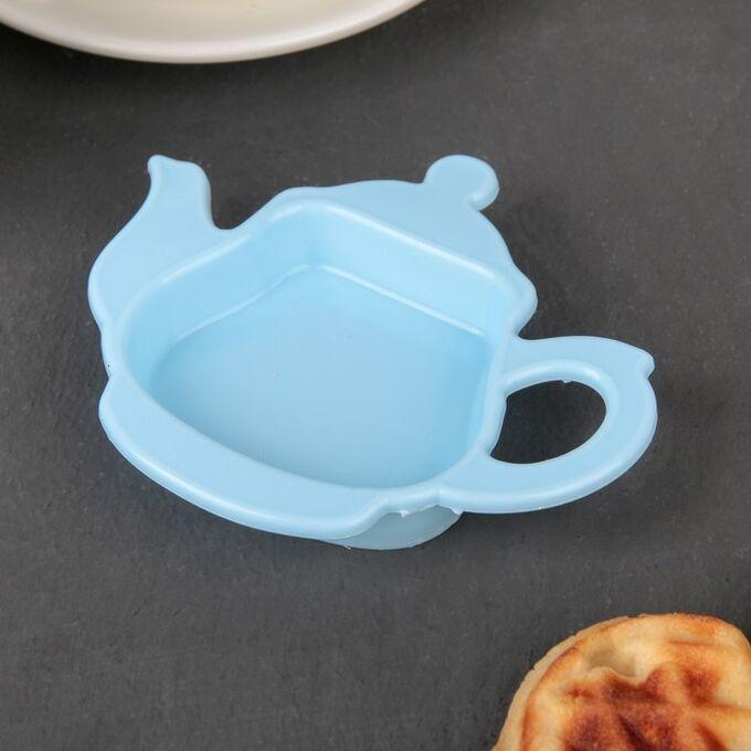 Подставка для чайных пакетиков, 15x14x1,5 см, цвет МИКС
