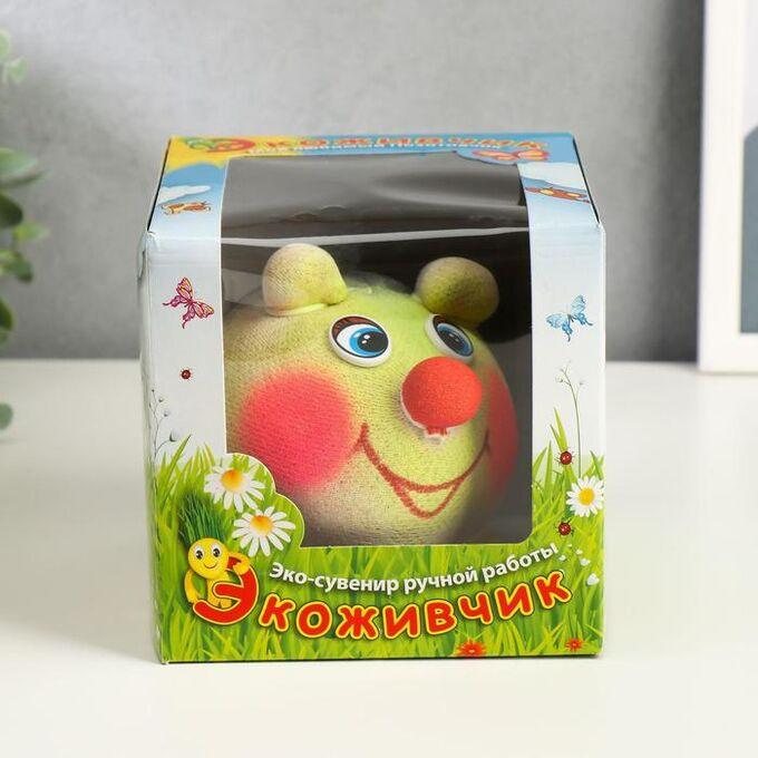 """Растущая травка Экоживчик """" Ёж"""" МИКС подарочная упаковка"""