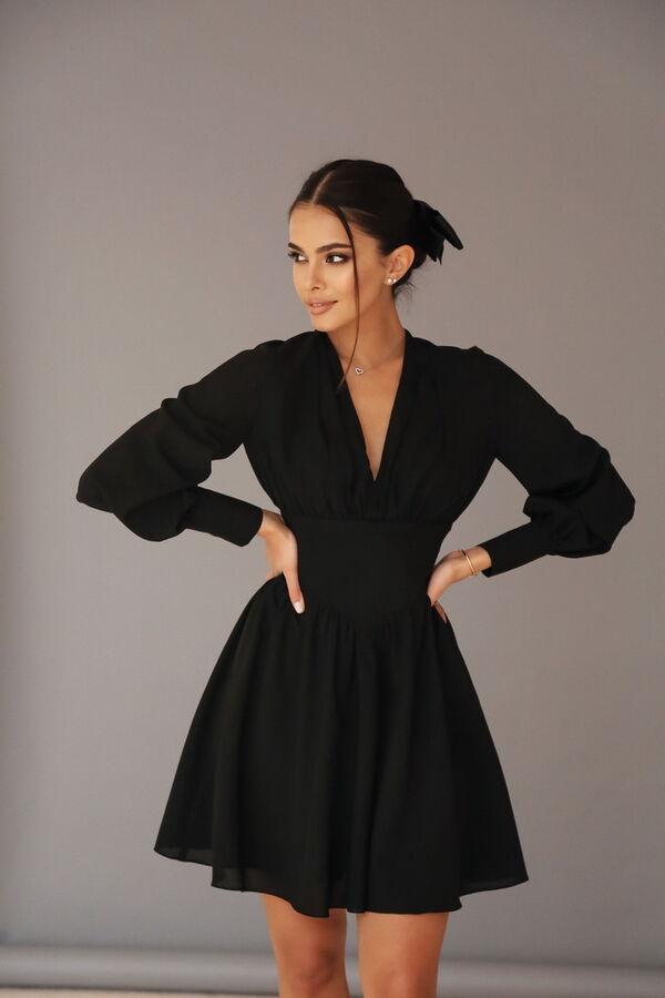 Платье из креп-шифона с эффектом корсетного пояса в Хабаровске