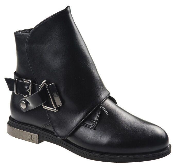 Ботинки Болеро, артикул D17186, цвет черный, материал кожа иск в Хабаровске