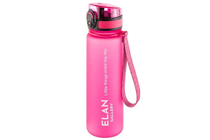 """Бутылка для воды 500 мл 6,5*6,5*23 см """"Style Matt"""" фуксия"""