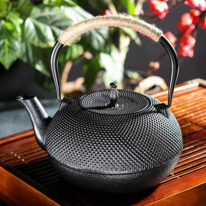 Чайник «Восточная ночь», 1,5 л, с ситом, цвет чёрный
