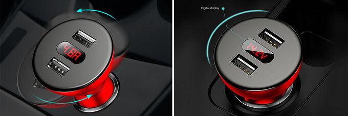 Автомобильное зарядное устройство Baseus 360°Rotation Car Charger