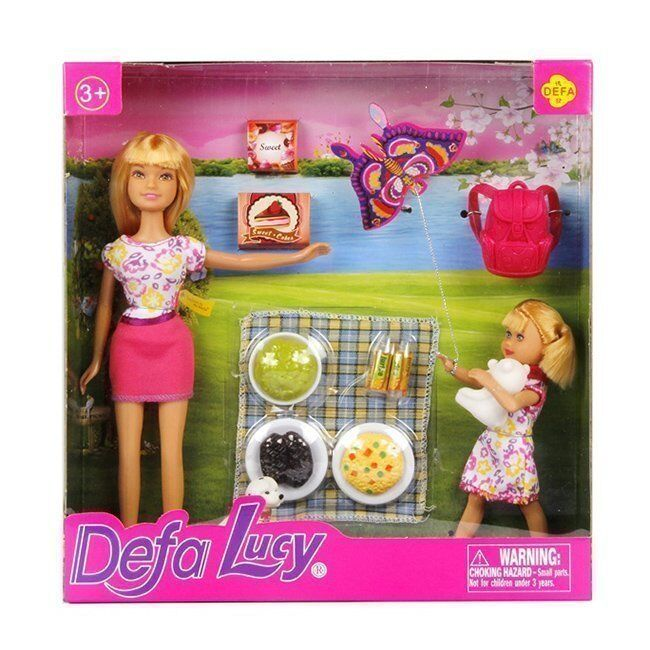 Кукла 8282 Пикник в кор. Defa Lusy