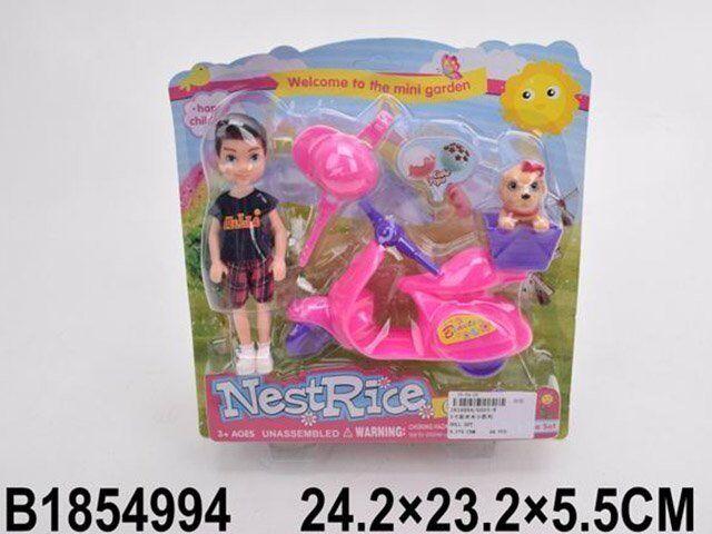 Кукла 6605-8 с аксес. на блист.