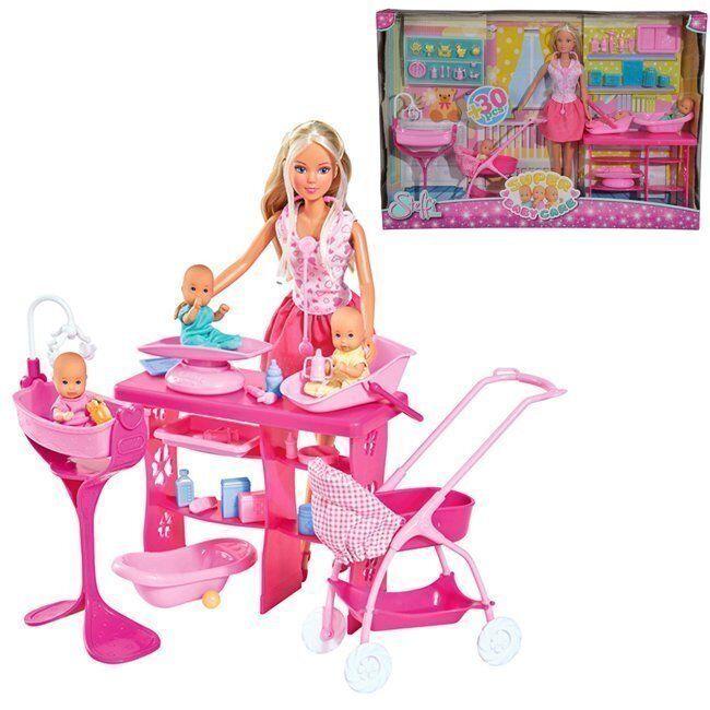 Штеффи Кукла с 3 малышами 29 см 5733212