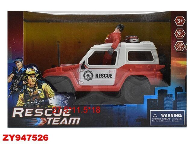 Набор Пожарный 3102-5С Машина+солдат  в кор.