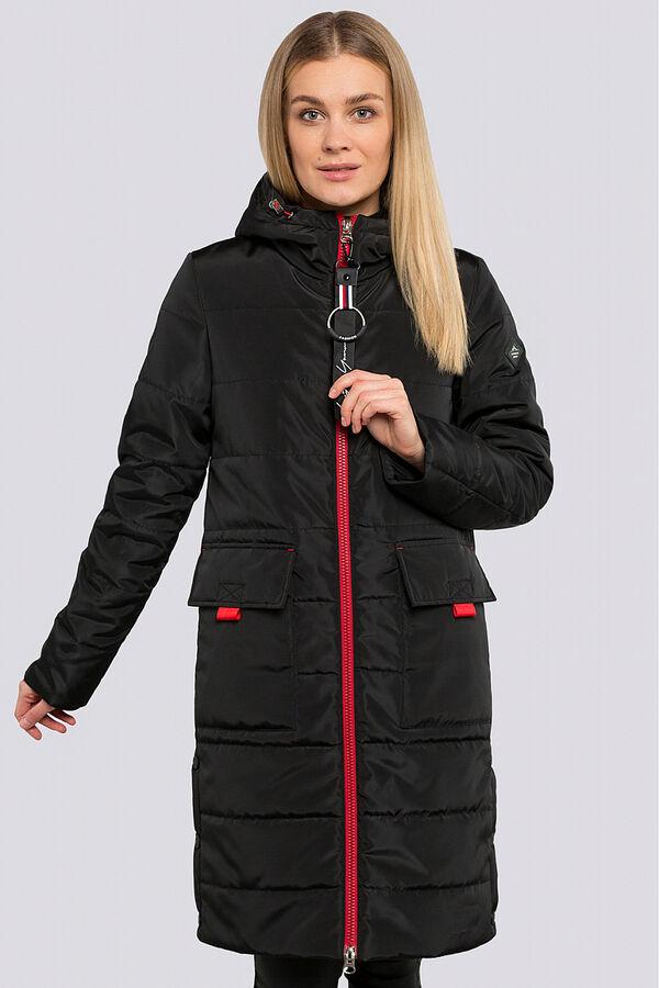Черный Пальто в спортивном стиле – одна из самых любимых курток современных модниц. Самыми актуальными считаются утепленные пальто.  Благодаря удобной длине пальто  не стесняет движений, поэтому отлич