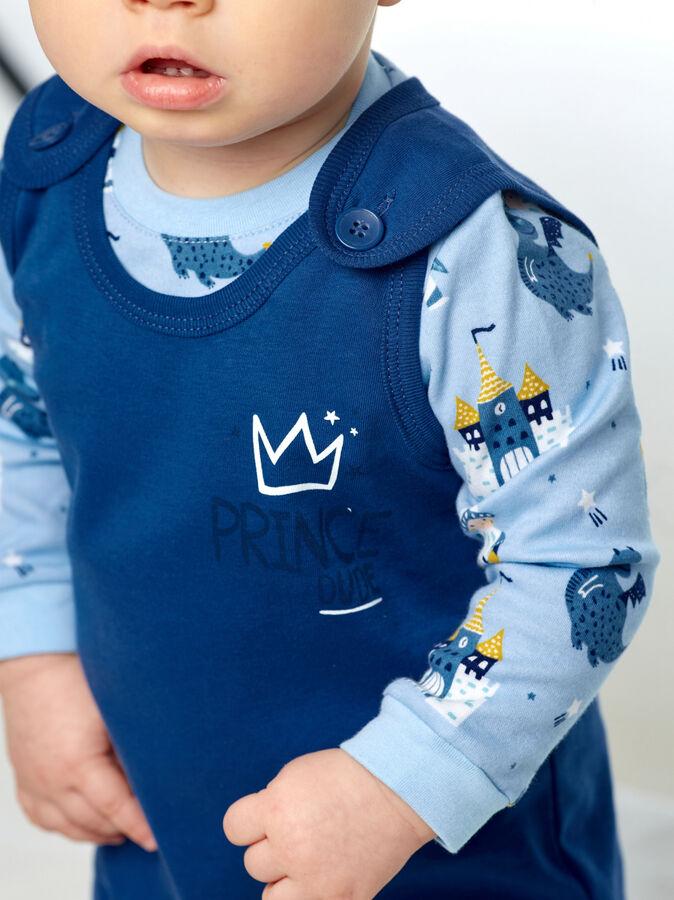 Комплект для мальчика (футболка и высокие ползунки)