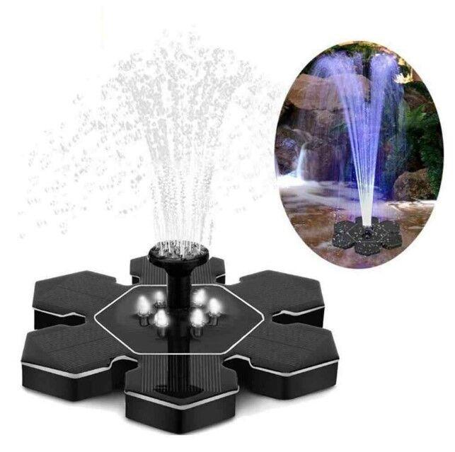 Декоративный фонтан на солнечной батарее с подсветкой и аккумулятором FH-05