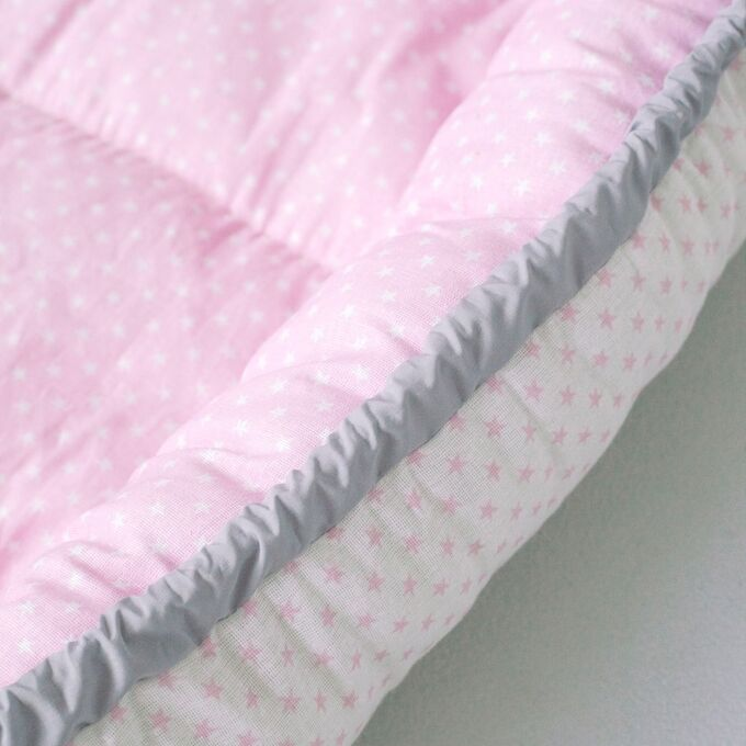 "Матрасик-кокон ""Гнездышко"" 95х55 с подушечкой 20х25, розовый"