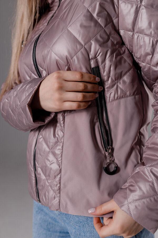 """Куртка стеганая цвет """"пыльная роза"""""""