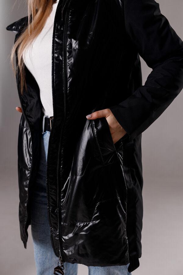"""Куртка деми цвет """"черный"""""""
