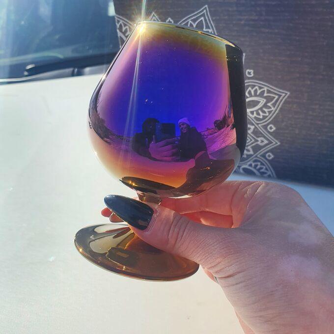 """Набор бокалов Glasstar """"Эдем"""" Радуга королевская фуксия / 6 шт. 250 мл"""
