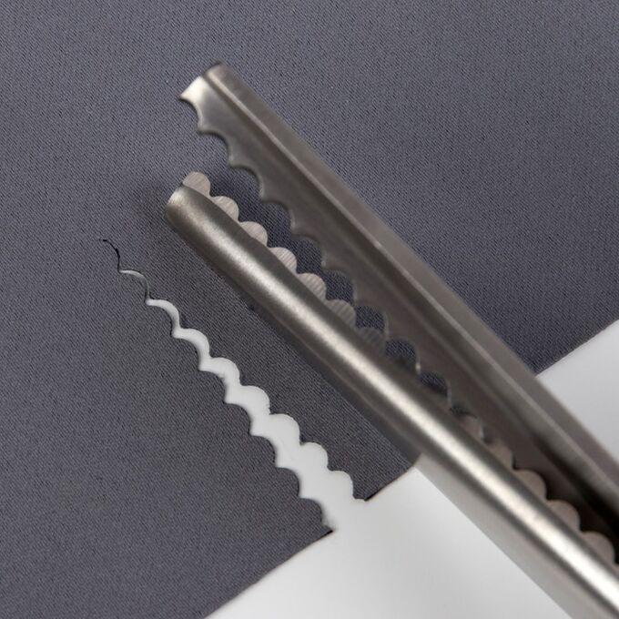 """Ножницы «Волна», 9"""", 23,5 см, шаг - 5 мм, в коробке, цвет красный"""