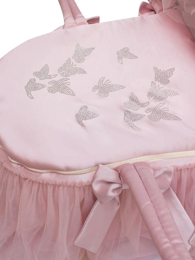 """Люлька-переноска """"Бабочка"""" (Утренняя роза с розовым фатином)"""