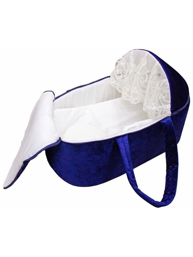 """Люлька-переноска для новорожденного """"Блюмарин"""" темно-синяя"""