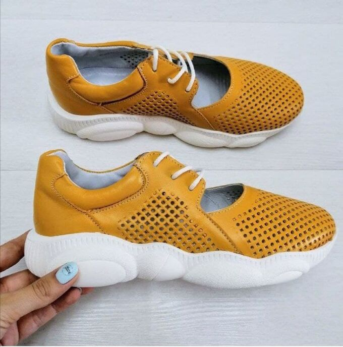 Кожаные кроссовки TED DREAM желтый-1235