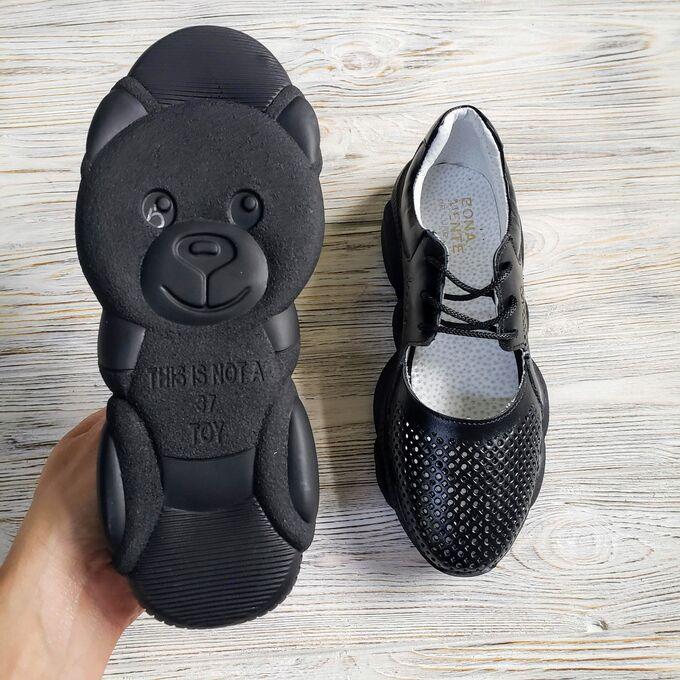 Кожаные кроссовки TED DREAM черные