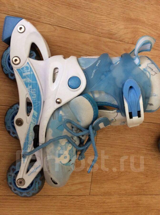 сегодня в 15:57 Ролики плюс шлем для девочки Kitty Blue 16-18 см раздвижные реал фото во Владивостоке
